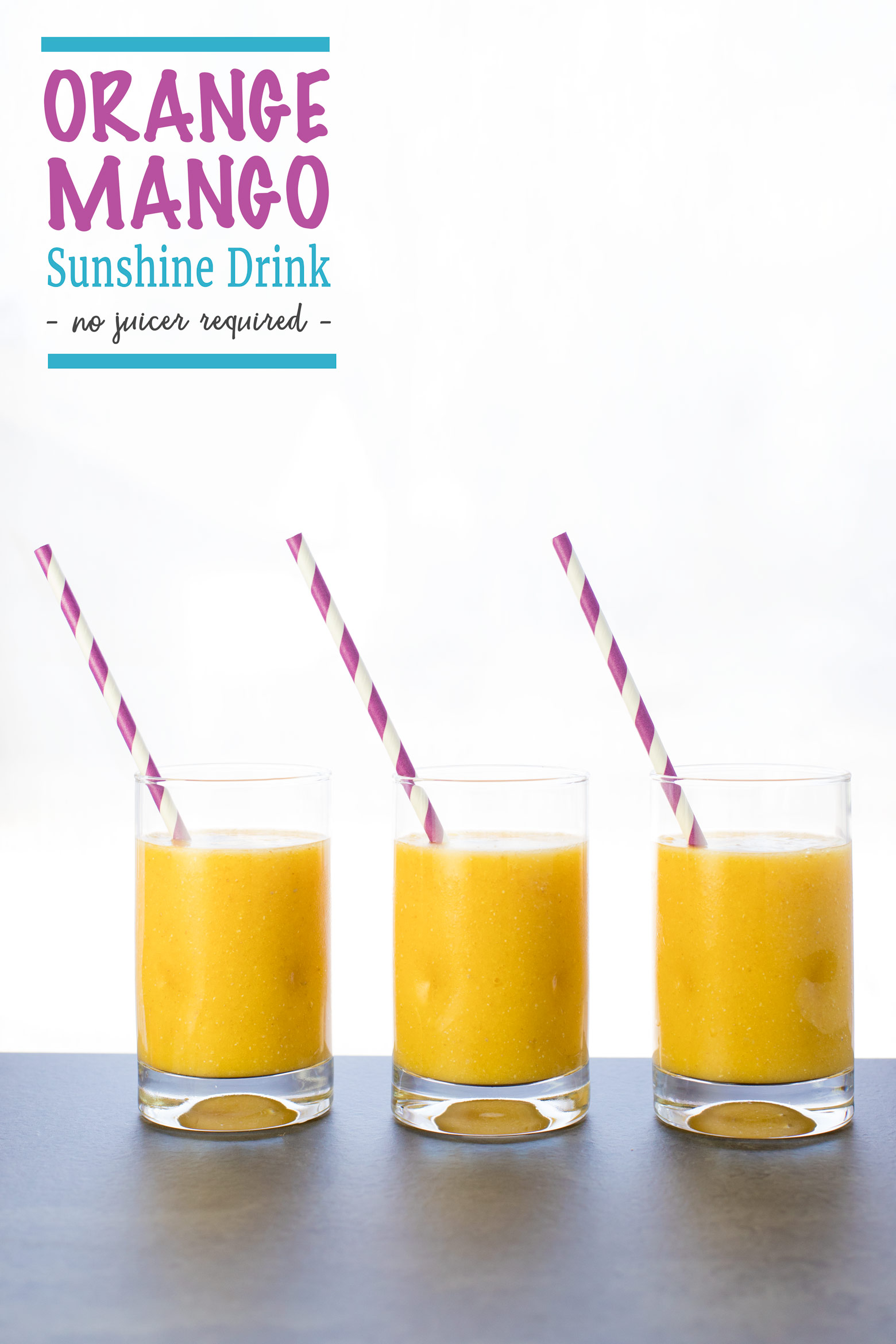 Glasses of orange mango sunshine drink