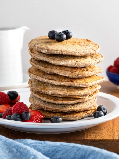 Easy Buckwheat Banana Pancakes